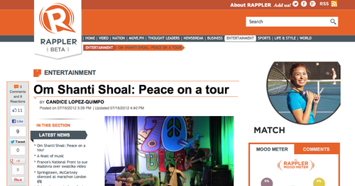 Om Shanti Shoal on Rappler