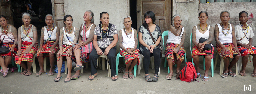 With the last tattooed women of Kalinga.